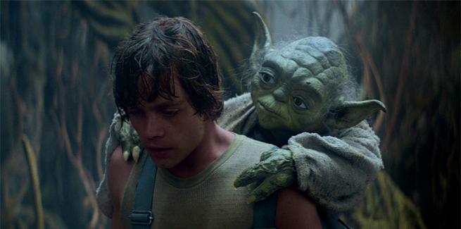 Yodaestas maljuna La homo estas Luke