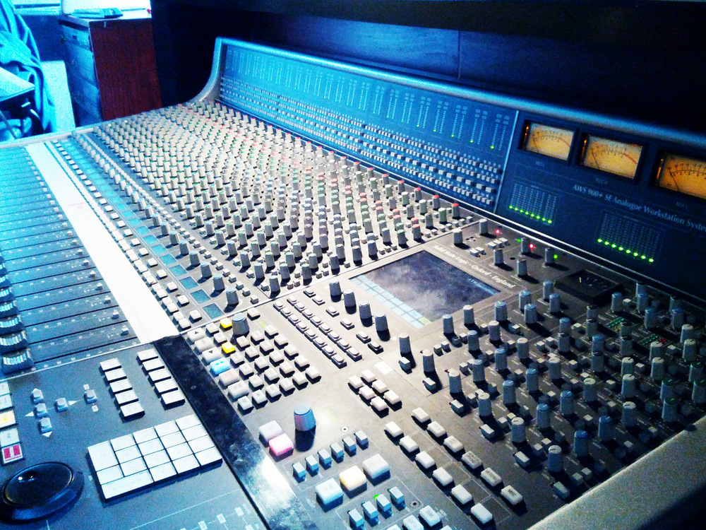 AWS 924 console, one of several different consoles in the studio classrooms at Nimbus School of Recording & Media