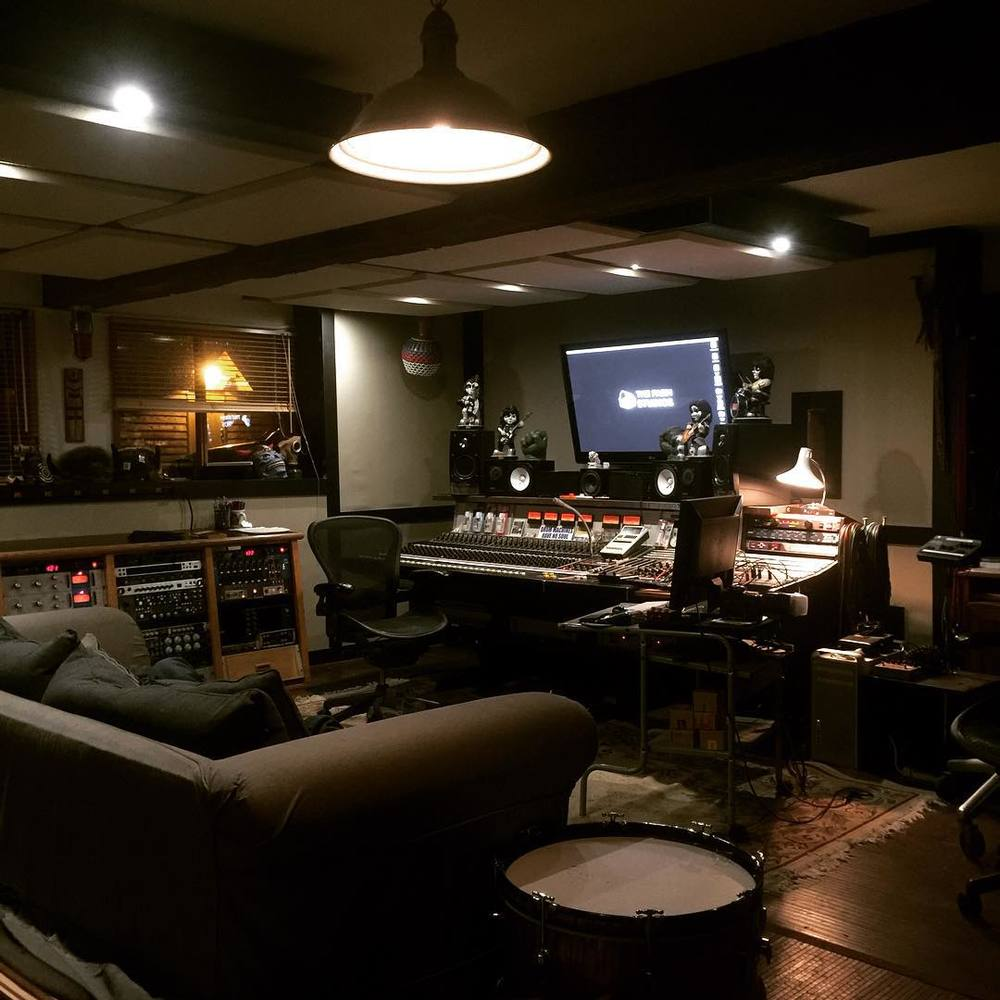 The control room of the Farm Studios, Gibsons, BC (photo by Garth Richardson)