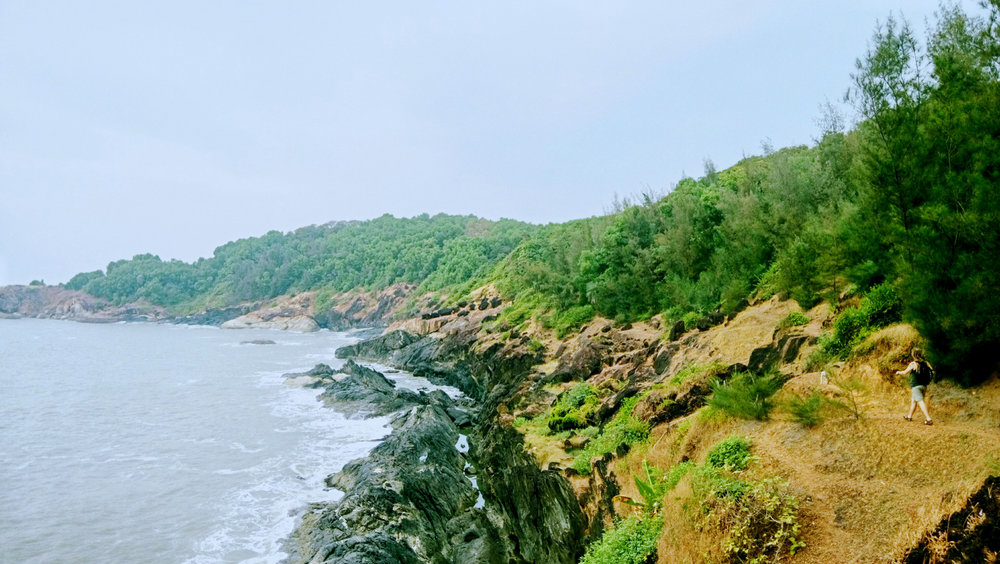 Between Om and Kudle Beaches, Gokarna, Karnataka, India