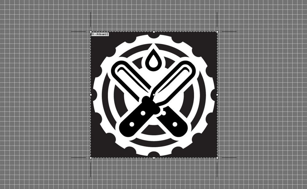 Cropped Illustrator file