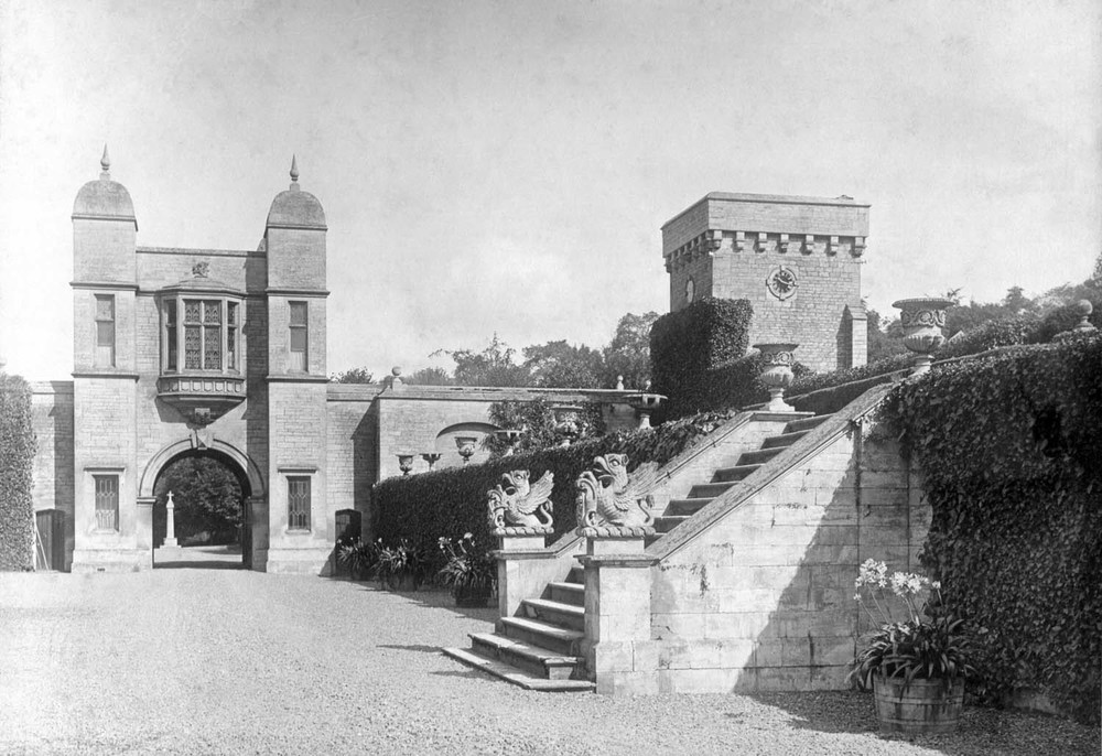 Easton Hall 1910, showing the Gatehouse