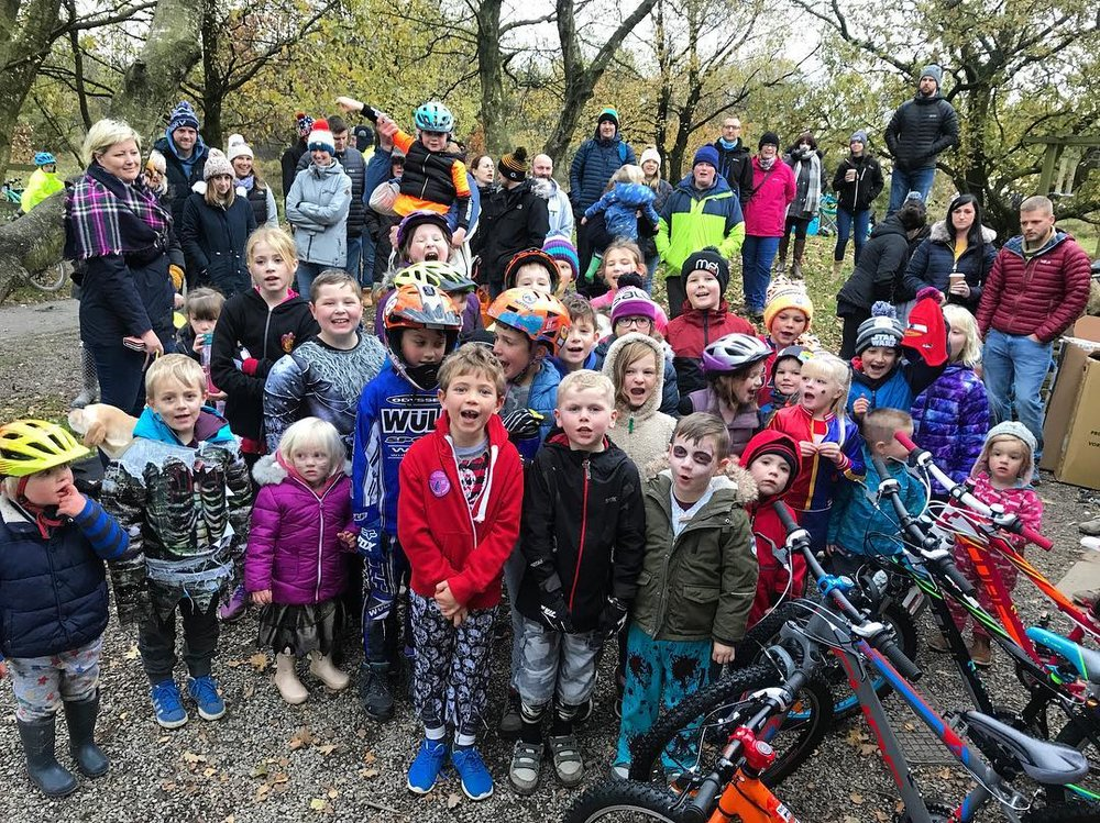 Sutton Bank Bikes - Kids Time Trial - Halloween special