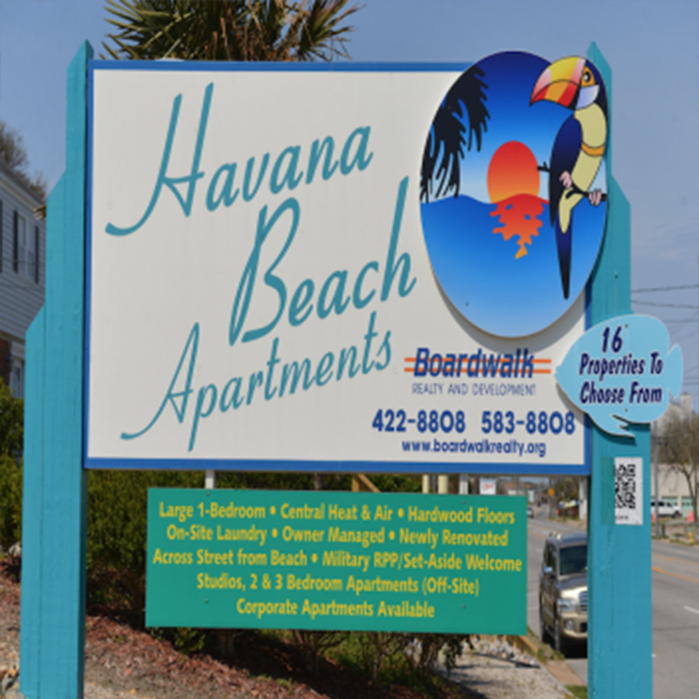 havana beach - 1721 East Ocean View Ave, Norfolk, VABuilt: 1966  |  Renovated: 2011  |  Units: 12Havana Beach Apartments sit on a high sand dune located across the street from the beach.  There is a 2nd floor overlook with excellent views of the Chesapeake Bay.  This resort property features turquoise yellow and violet building colors.  The enclosed center courtyard improved with marble pebbles and palm trees provides a Caribbean flair from the past. All windows have been replaced in order to assure energy efficiency.  Units without authentic wood floors have received Bamboo wood floors. These units offer spacious kitchens, walk-in closets, ceiling fans, good cabinet space, authentic wood floors, dining room, custom tile and wood work, microwave oven, semi-private patios and original mud tile in the bathrooms. Most of the central heating/cooling units here are less than 5-years old.  This property also features an on-site laundry room and ample parking.