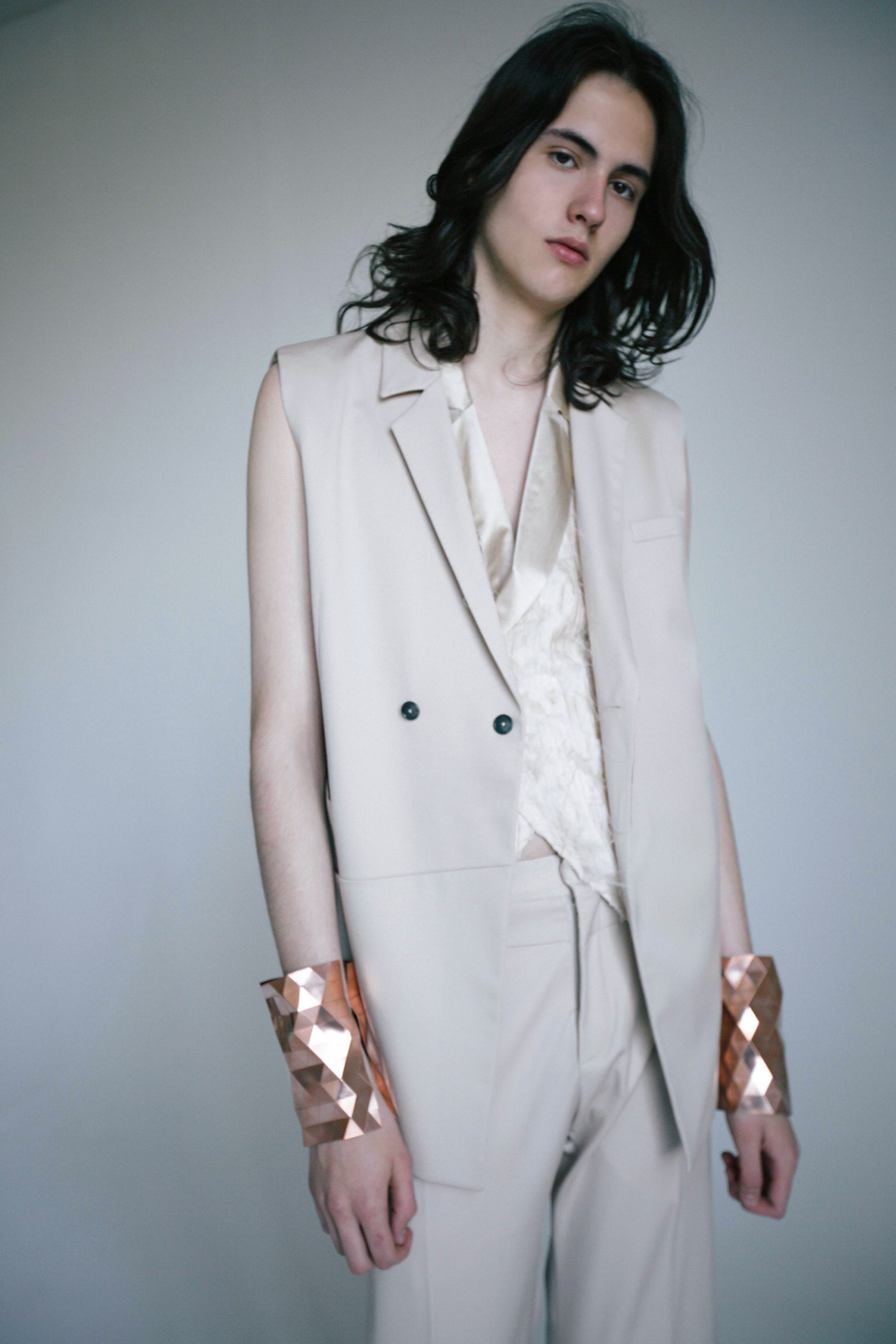 anna-kim-silk-three-piece-suit-agoraphobia-collective