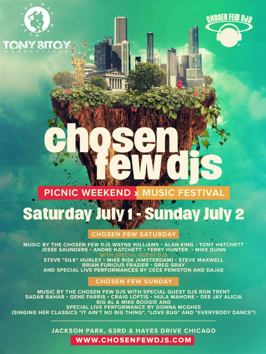 Click here to purchase your tickets to the 2017 Chosen Few Festival!