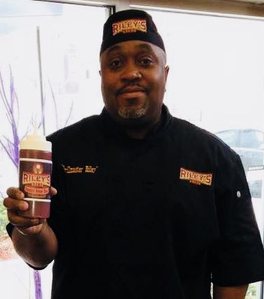 Antonio Riley, Grill Master and Owner/Riley's Ribz BBQ Sauces & Seasonings