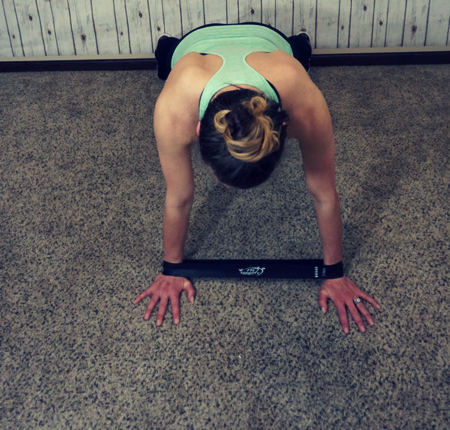 Plank taps - *tap hands back and forth