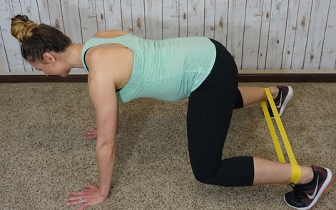 - *move bent legs and arms side to side