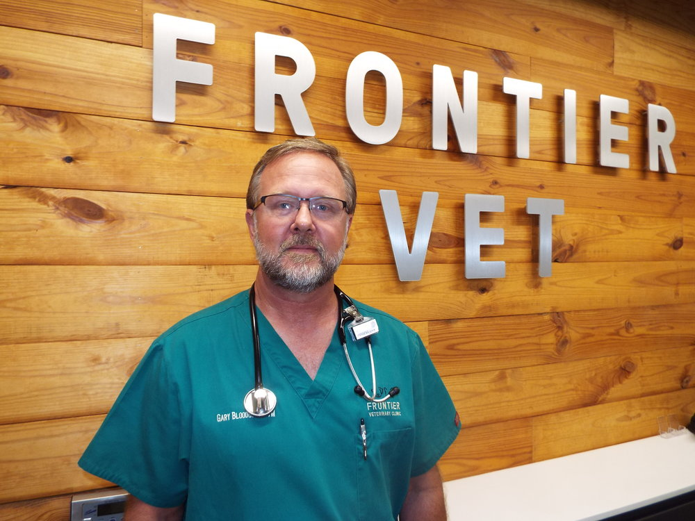 Dr. Gary Bloodgood    Dr. Bloodgood was born in rural Connecticut where his family lived until moving to Dallas, Texas when he was nine years old.  His family has always had pets and his career choice was obvious to him at a young age.  He obtained a Bachelors degree in Biology Animal Science and Veterinary Science from Texas A&M University.  He received his Doctor of Veterinary Medicine Degree from Texas A&M in 1991.  When not at the clinic Dr. Bloodgood and his wife, Terri, enjoy riding motorcycles, doing outside activities and spending time with their two adult daughters, four dogs, and five cats.