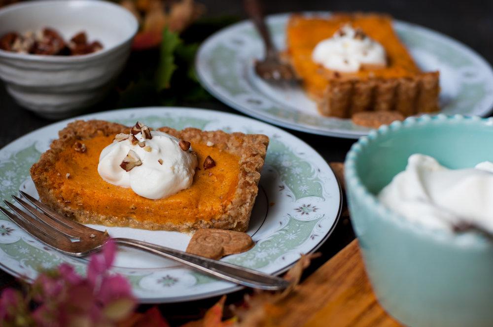 Pumpkin Chiffon Tart in an Oats + Gingersnap Crust ...