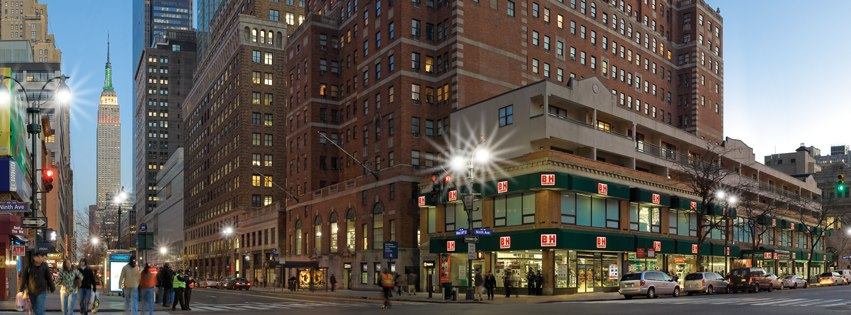 B&h, located at 420 9th Ave. on the corner of 34th St. in Manhattan, NYC.