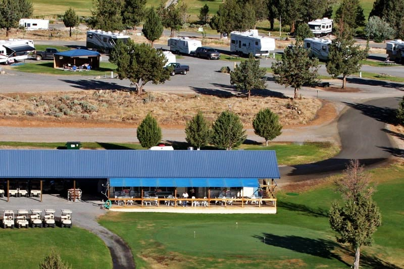 Likely Place RV park is conveniently located near the clubhouse and restaurant.