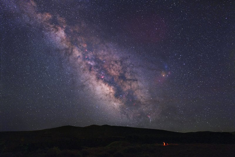 Some of the darkest skies in the USA. (photo courtesy of Tony Hallas)