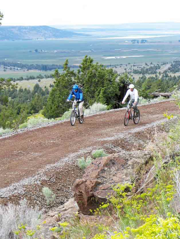 Bikers on the Modoc Line