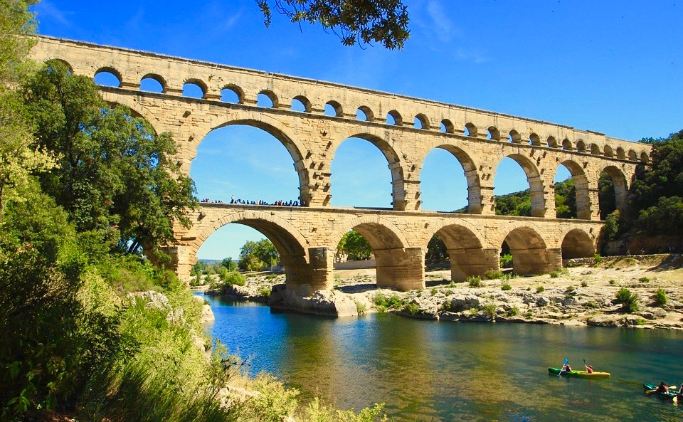 The Pont du Gard is one of the region's most iconic heritage sites,