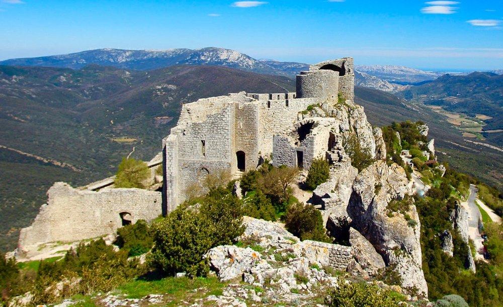 Château Queribus, in Languedoc-Roussillon