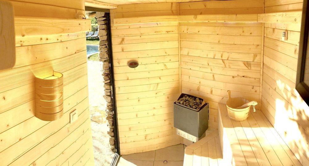Sauna wild boar mountain