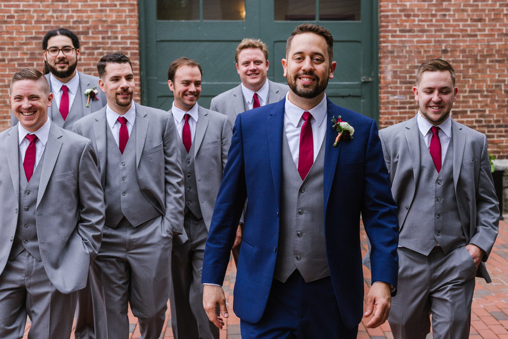 urban_row_photography_Enchanting_events_and_design_maryland_wedding_coordinator_main_street_Ballroom_groomsmen