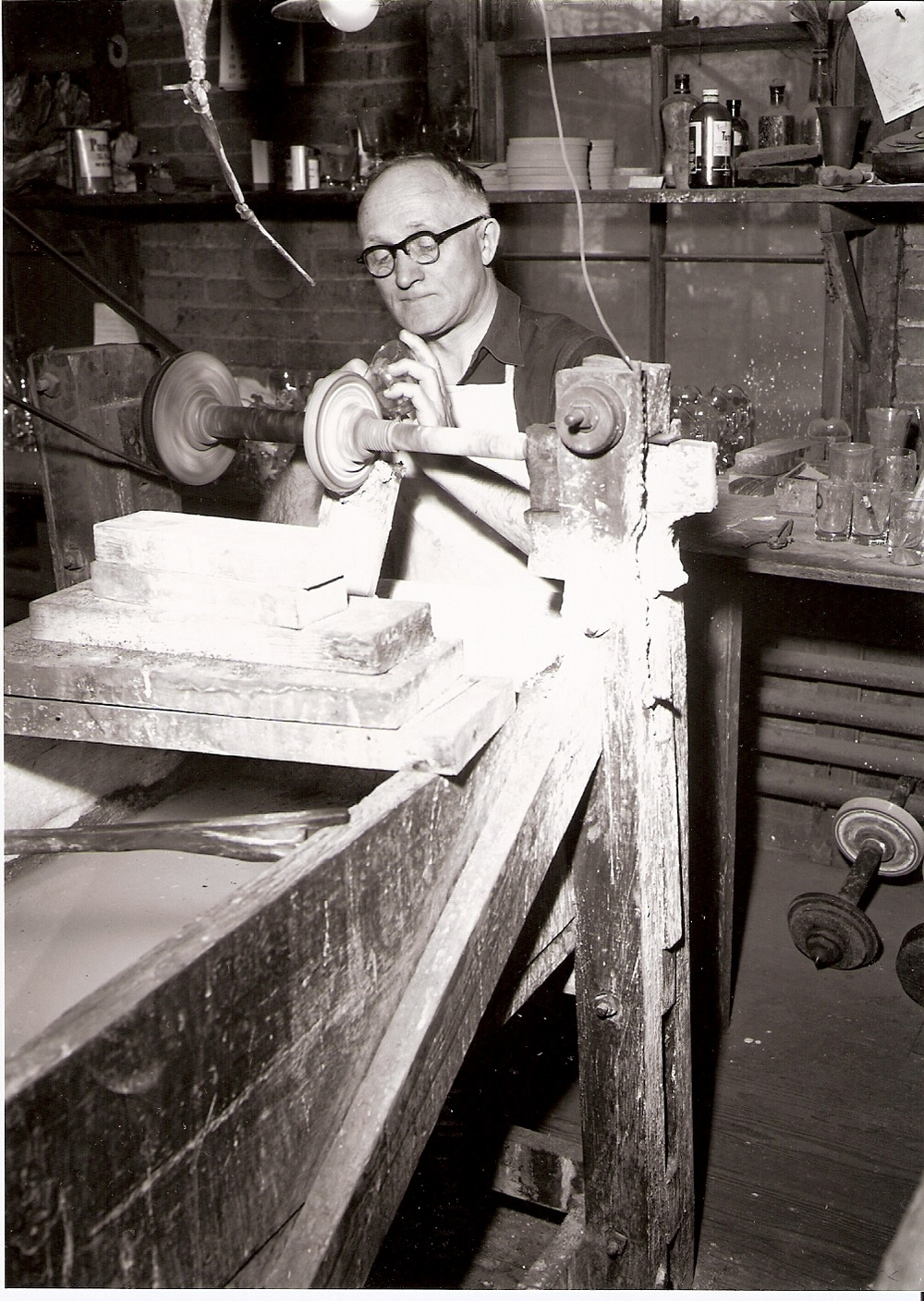Oscar Hugo, original owner of Warsaw Cut Glass.