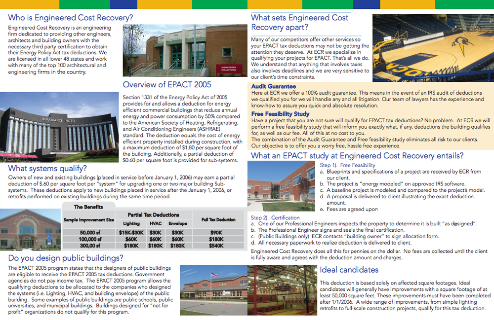 our brochure engineered cost recovery