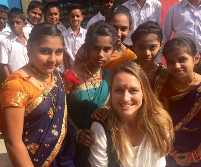 With young villagers in Shivkar, a small village in Panvel, Maharashtra, India.