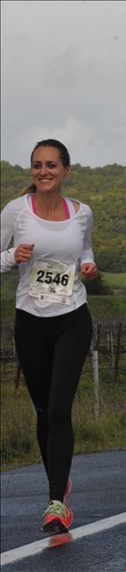 Don't let the smile fool you. This was mile 19 and I was hurting!
