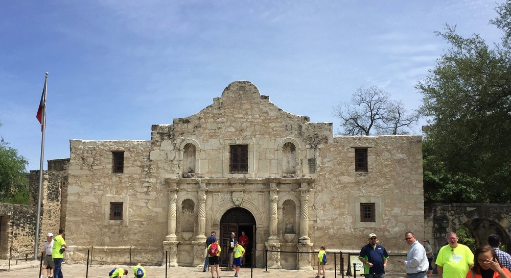 The Alamo on a Spring afternoon