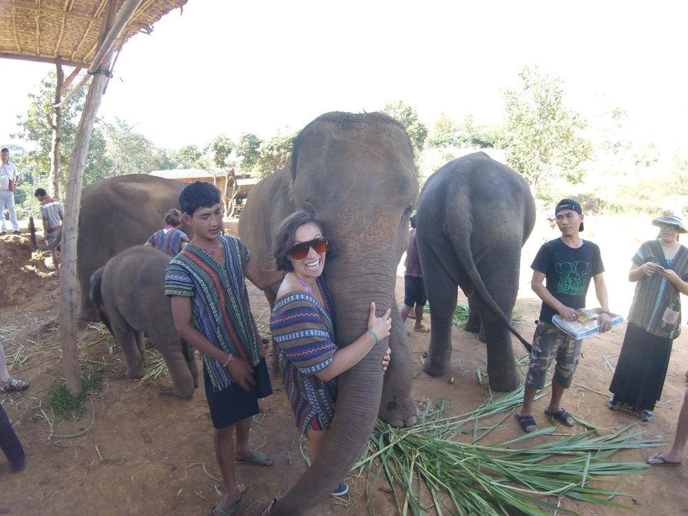 Me + Thailand + Elephant Sanctuary