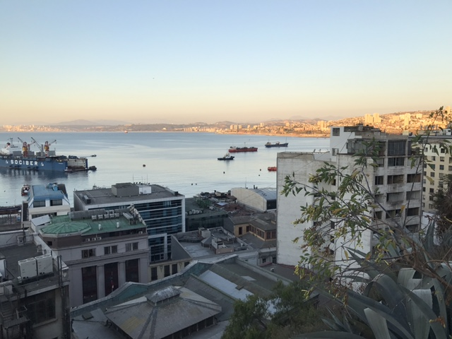 Vista desde los cerros de Valparaíso