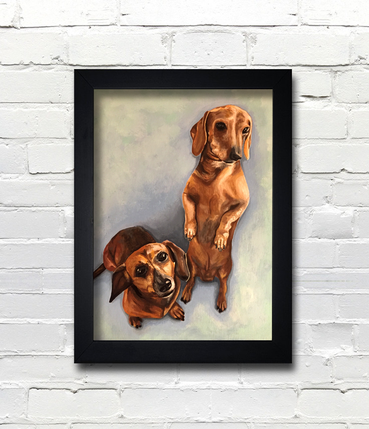 Weiner Dog Painting