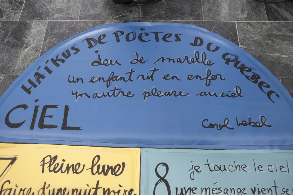 De la terre jusqu'au ciel, marelles poétiques « en pied de bas »