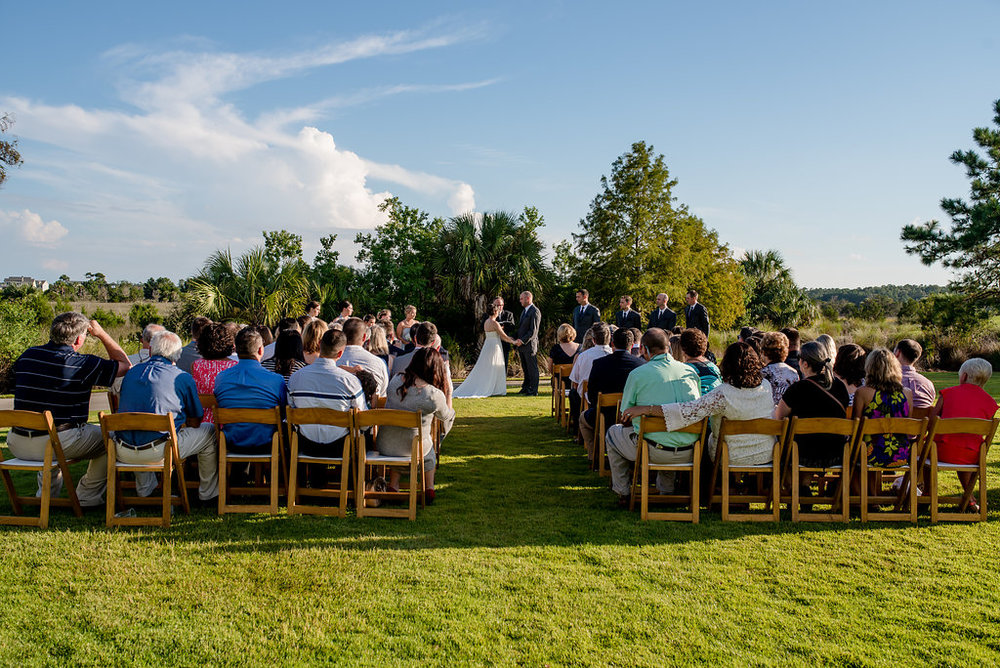 Outdoor Wedding Ceremony at RiverTowne Country Club