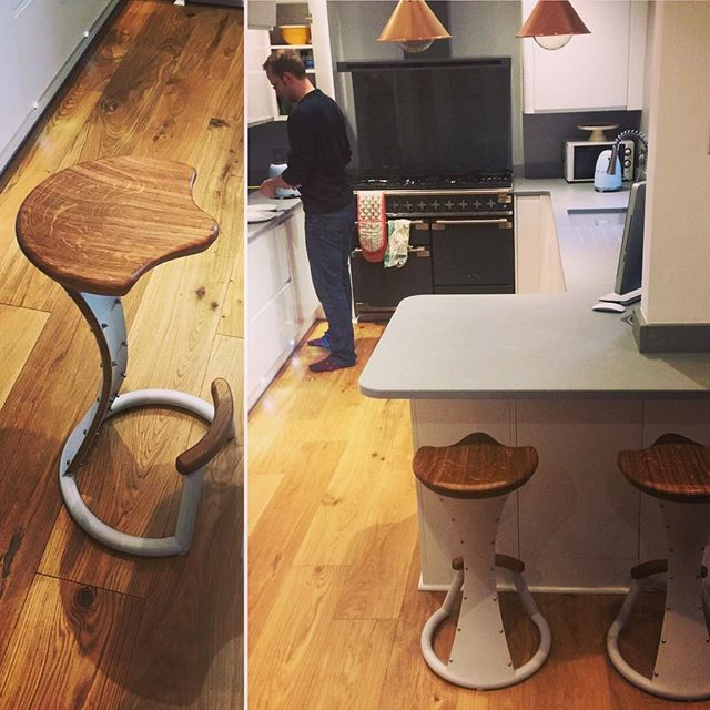 Thanks for being great customers @charlottejthomas and EdAllsopp?? Hope you like the stools! #furniture #barstools #handmade #kitchendesign #interiors #interiordesign #oak #greyandoak