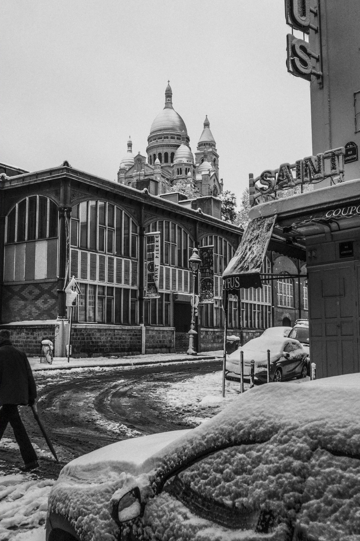 Neige à Montmartre, 2018.