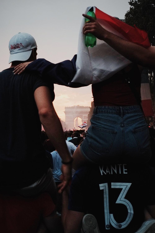 Victoire de la Coupe du Monde sur les Champs Elysées, 2018.
