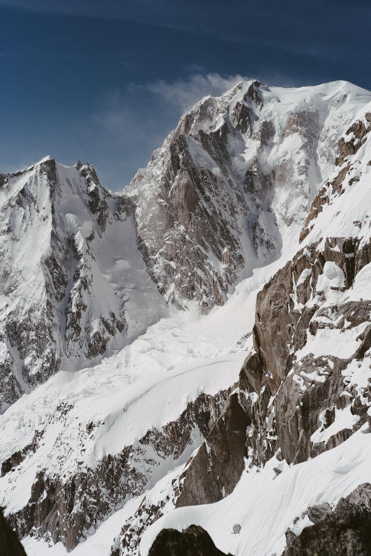 Versant italien du mont Blanc - CHAMONIX, FRANCE.