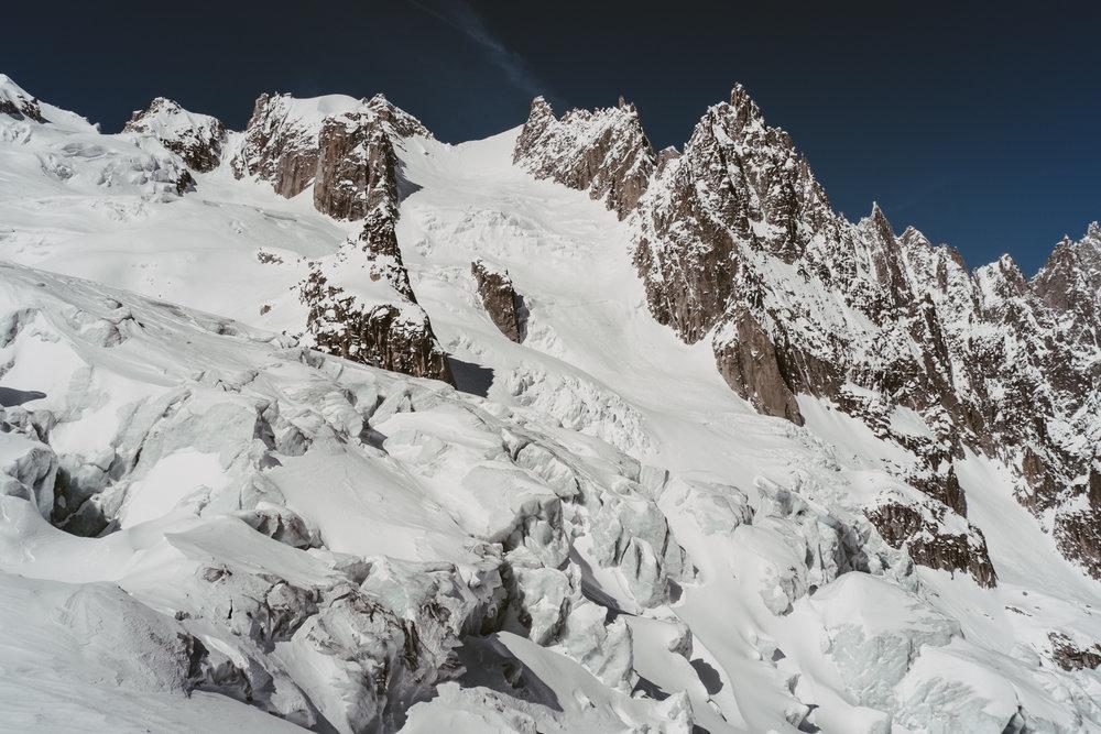 Séracs du Glacier du Géant - CHAMONIX, FRANCE.