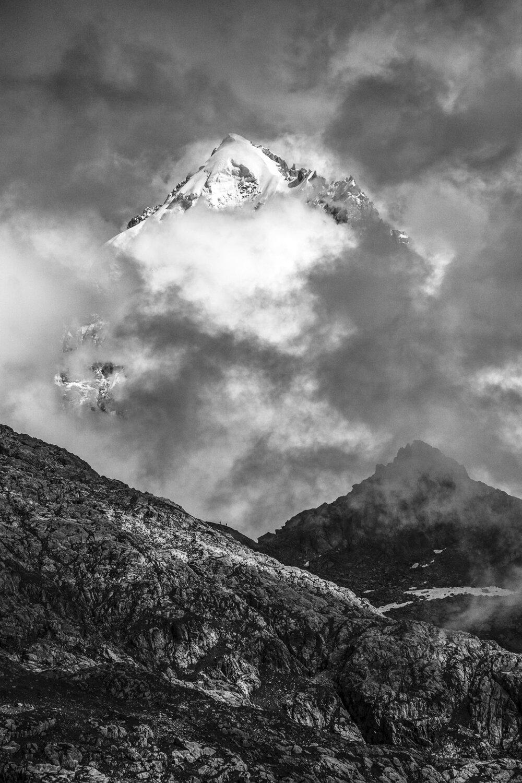 La calotte glaciare de l'Aiguille Verte, 2016.