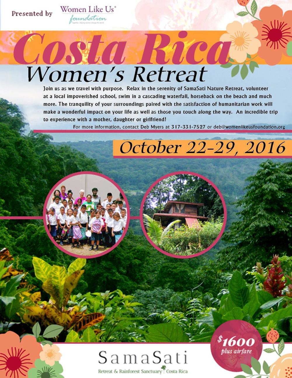 PLEASE CONTACT DEB MYERS, TRIP LEADER FOR MORE INFORMATION  Deb@womenlikeusfoundation.org