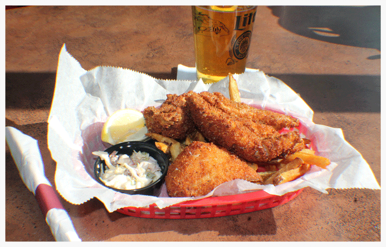 Fried Perch Basket - W/four (4) pieces of fish