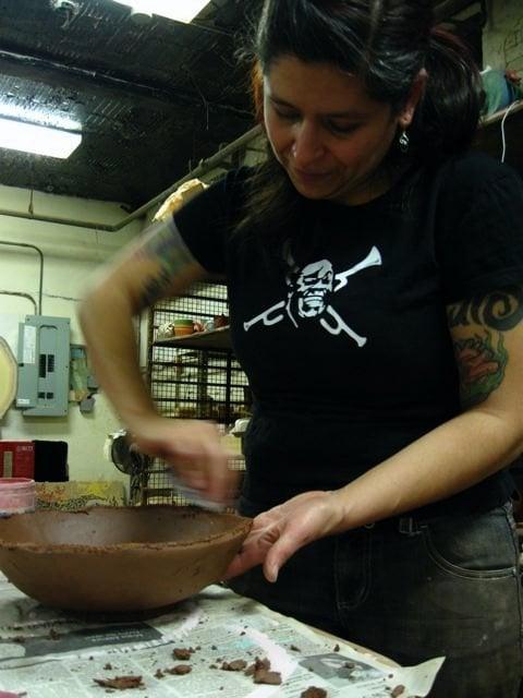 Casa Aztlan, 2009. Pozolada: overnight bowl making marathon, and benefit for ProsArts Studio. Photo: Anthony Marcos Rea