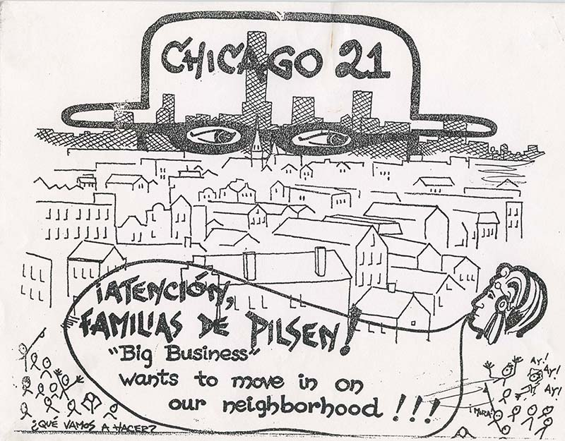 Pilsen Neighbors Community Council depiction of the Chicago 21 Plan