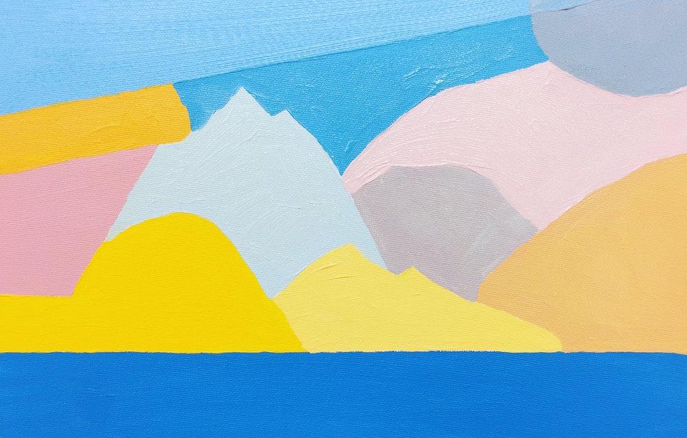 Tim A Shaw. Sea, 2017, Acrylic on canvas