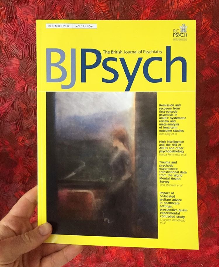 British Journal of Psychiatry - Sue Dunkley is a celebrated pop artist who now has dementia. Her family donated a painting from her archive 'The House of Bernada Alba' (1989) to be installed at the Garnet Ward. It was also selected to feature on the cover of the British Journal of Psychiatry.
