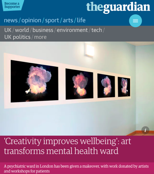 Creativity improves wellbeing - Read about our project at the Phoenix Unit in The Guardian