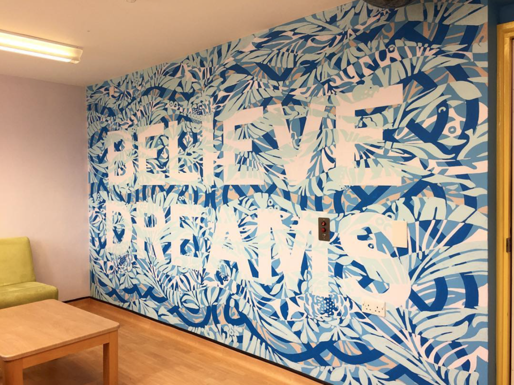 Mark Titchner, the Family Room at Snowsfields Adolescent Unit, The Maudsley Hospital