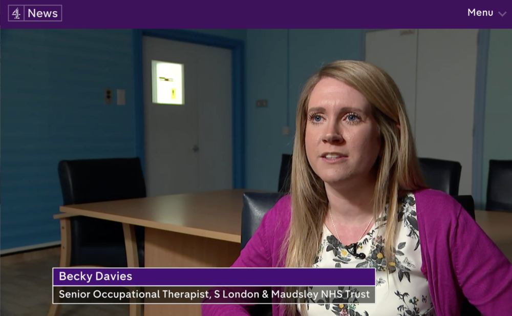- Becky Davies, senior occupational therapist at Eileen Skellern 1, appeared in a feature about Hospital Rooms on Channel 4 news. Originally broadcast in April, the feature can still be watched online here