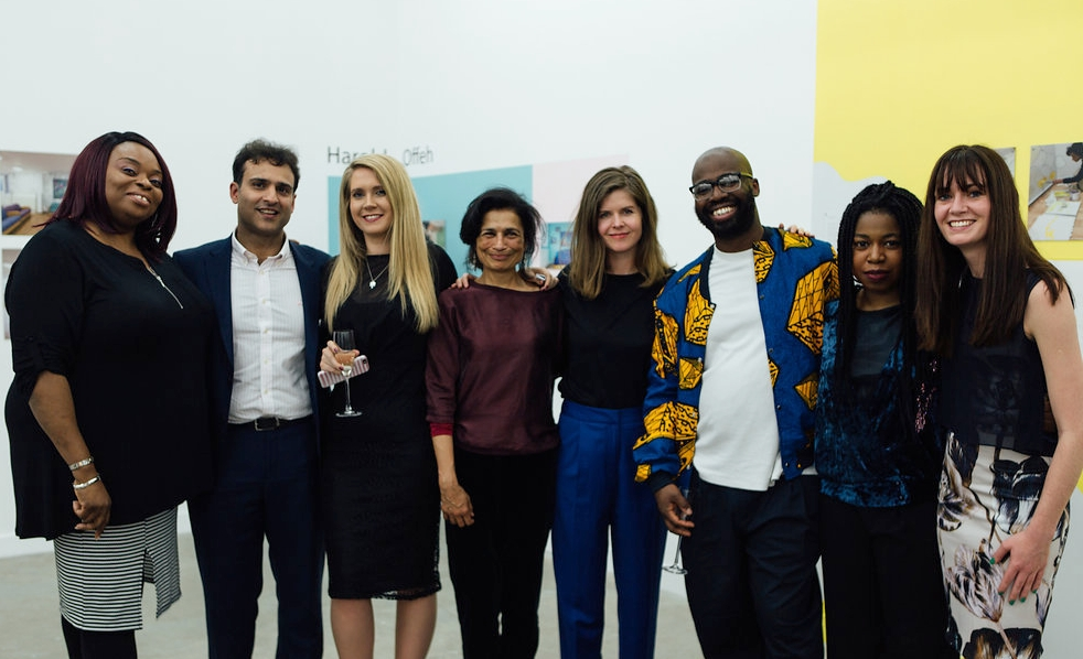 - Pictured with artists Paresha Amin, Tamsin Relly, Harold Offeh and Nengi Omuku are members of staff from Eileen Skellern 1: Clinical Services Lead Ronnie Adeduro, Consultant Psychiatrist Dr. Faisil Sethi, Senior Occupational Therapist Becky Davies and Psychologist Dr. Sophie Butler.Together with Ward Manager Onyekachi Nwankwo, these members of staff formed the core team for our project at Eileen Skellern 1. We held meetings with this core team every fortnight for months, starting well in advance of the start of the project and continuing throughout its duration. It was thanks to their support, guidance, careful planning and organisation that we were able to work onsite at the psychiatric intensive care unit and minimise disruption to the running of the ward. Crucially this meant we and our artists could interact with patients as much as possible, enabling them to have a huge input into the project.