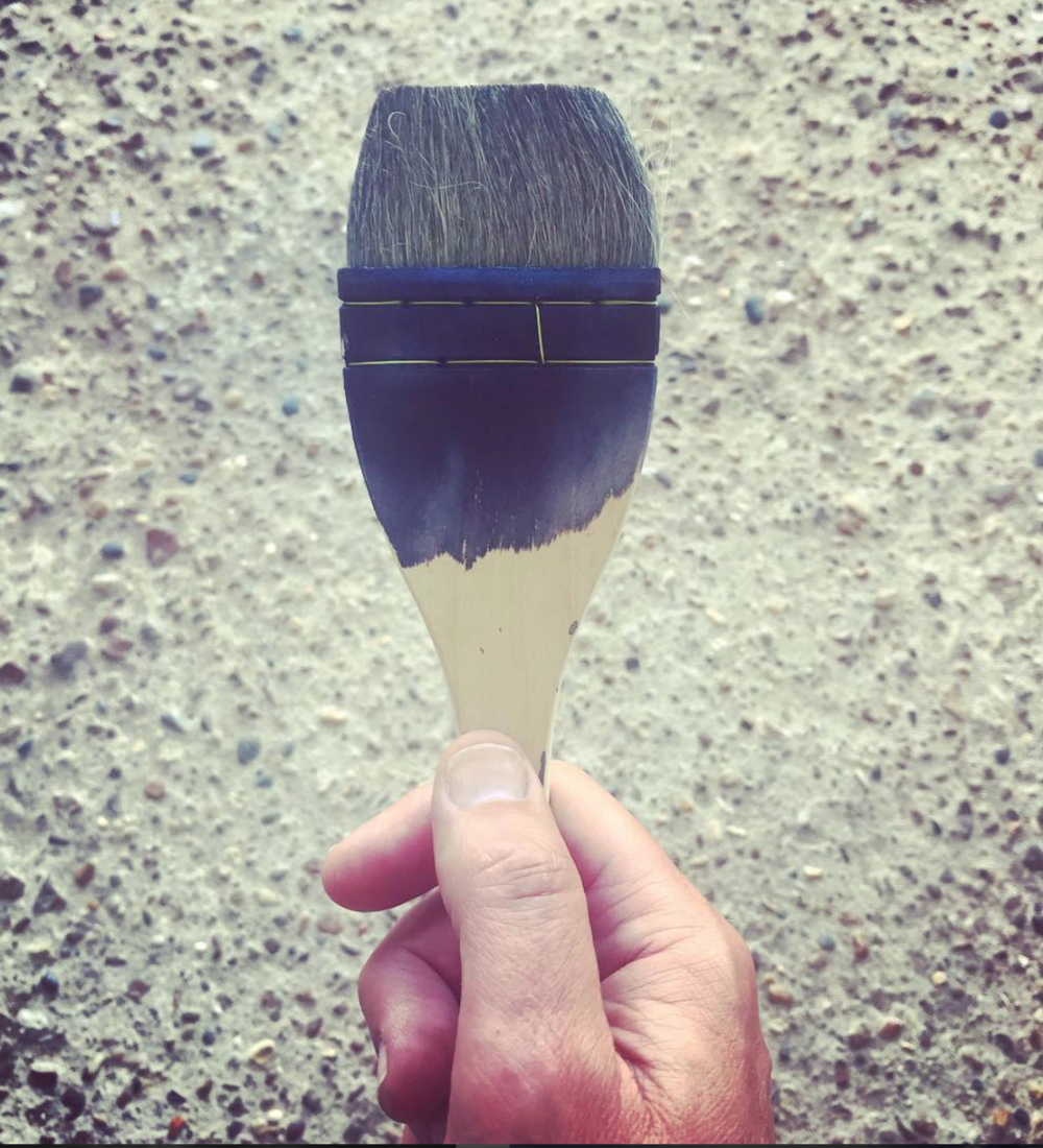 When coating surfaces with the photosensitive solution it's important to use a metal-free brush as the chemicals will react with the metal, affecting the quality of the solution. (Image courtesy of Steve Macleod, @stevemac65 )